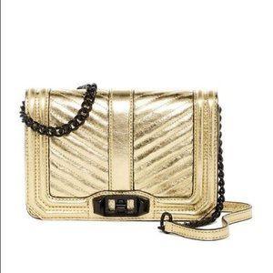 Rebecca Minkoff Gold Small  Leather Crossbody
